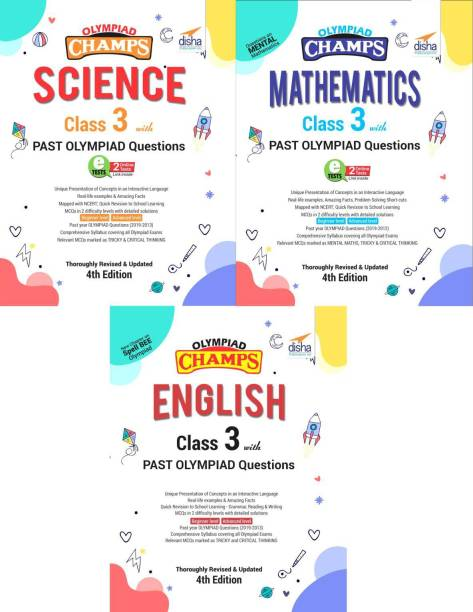 Olympiad Champs Science, Mathematics, English Class 3