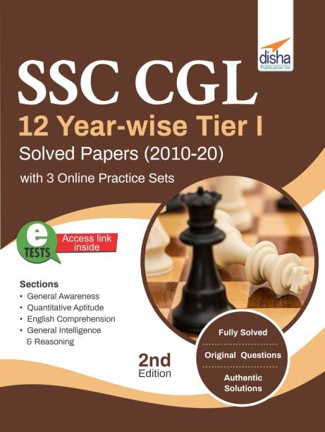 Ssc Cgl 12 Year-Wise Tier I Solved Papers (2010-20) with 3 Online Practice Sets