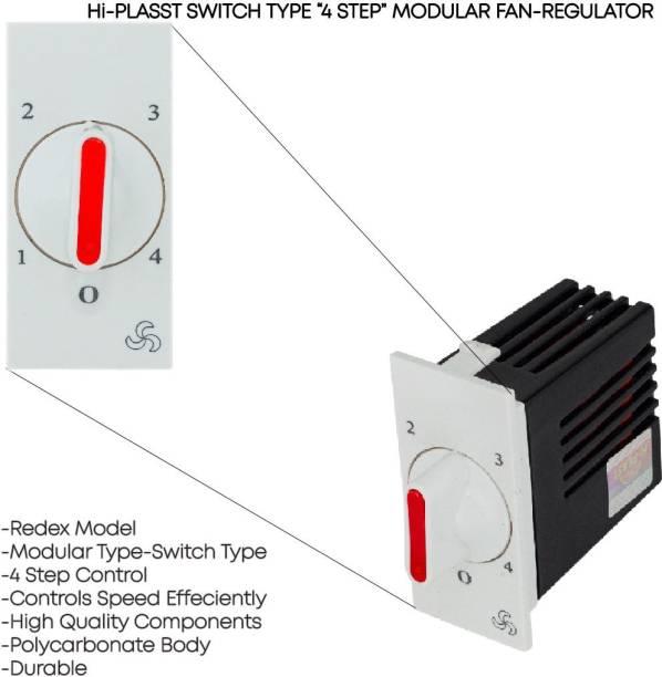 HI-PLASST (2 pcs) Switch Redex Modular 4-step Step-Type Button Regulator