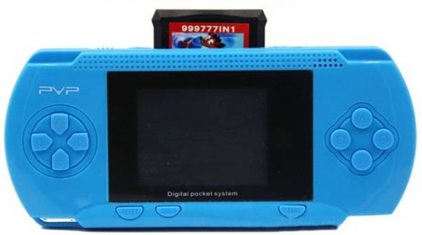 """Cyxus 4G PVP BLUE COLOR GAMING CONSOLE WITH 3D SOUND & 2.8"""" LCD DISPLAY-P44R 1 GB with MARIO, MARIO BROS"""