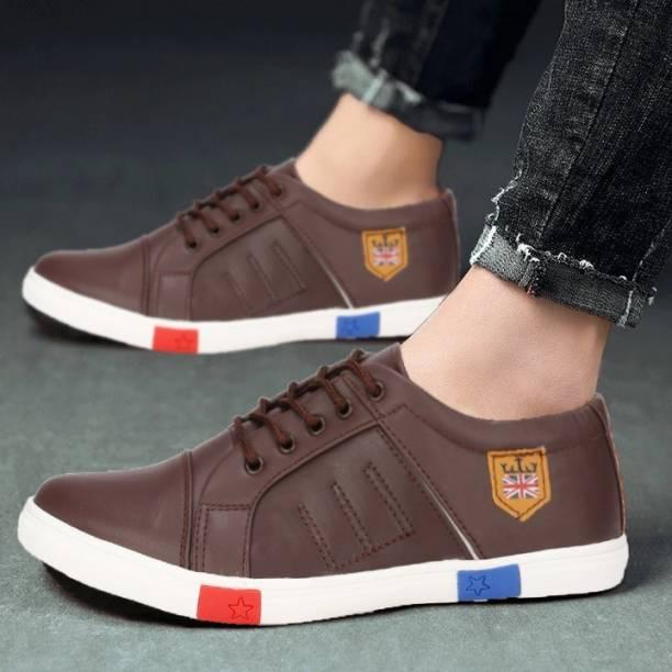 zovim shoe for men brown Sneakers For Men