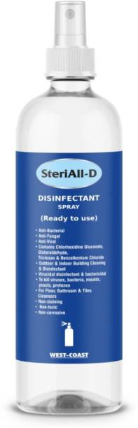 West-Coast Steriall-D Surface Disinfectant Spray - Hard-Soft Surfaces - (500 ML) - Best for Home, Offices, Door Handles, Cars and Bathrooms Antiseptic Spray