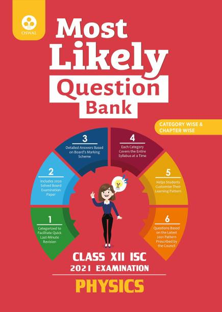 Most Likely Question Bank for Physics: ISC Class 12 for 2021 Examination