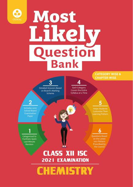 Most Likely Question Bank for Chemistry: ISC Class 12 for 2021 Examination