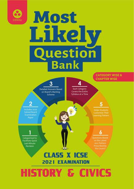 Most Likely Question Bank for History & Civics: ICSE Class 10 for 2021 Examination