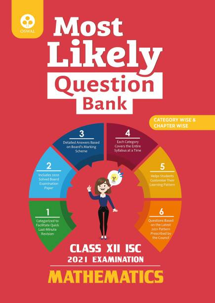 Most Likely Question Bank for Mathematics: ISC Class 12 for 2021 Examination