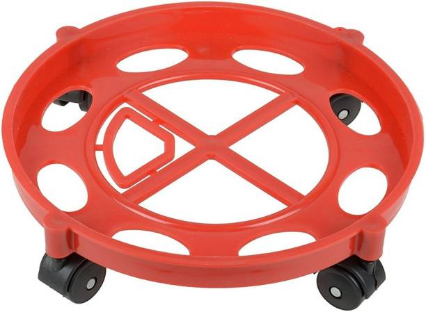 SatSun Gas Cylinder Trolley with Wheels | Gas Trolly / LPG Cylinder Stand Gas Cylinder Trolley (Pack Of 1, Red) Gas Cylinder Trolley