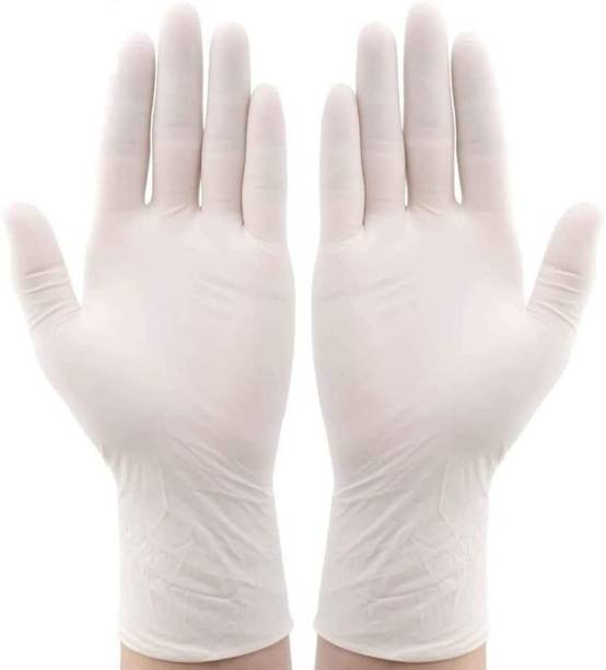 RBGIIT RBSM20A22 Disposable Latex Powder Free Surgical Gloves Medical Grade Hand Protection Rubber Glove for Hospital, Clinic, Sanitary & Kitchen Latex Surgical Gloves
