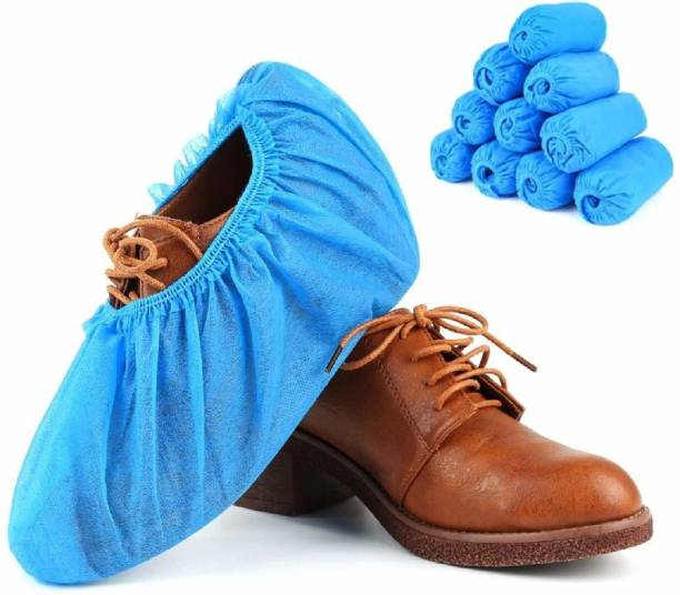 go klean Disposable Shoe Cover Polyester Plastic PP (Polypropylene) Blue Boots Shoe Cover, Toes Shoe Cover, High Ankle Shoe Cover, Flat Shoe Cover (Free Size, Blue, Pack of 50 PCs) PP (Polypropylene) Blue Flat Shoe Cover (Free Size Pack of 50) PP (Polypropylene) Blue Boots Shoe Cover, Toes Shoe Cover, High Heeled Shoe Cover, High Ankle Shoe Cover, Flat Shoe Cover