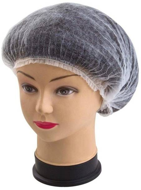 Uniqon (Pack Of 100 Pcs) Premium Unisex Net Hair Covers Disposable Stretchable Mob Cap, Bouffant Cap, Strip Cap, Non-woven Cap, Surgical & Cooking Cap For Food Hygiene Catering