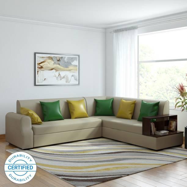 MUEBLES CASA Marco Leatherette 6 Seater  Sofa