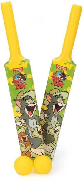 TOM & JERRY Kids First Set of 2 Bats & Balls Cricket Kit
