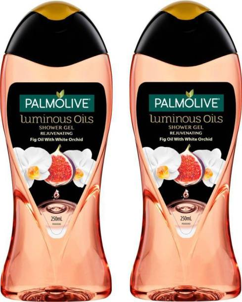 PALMOLIVE Luminous Oil Rejuvenating Body Wash, Gel Based Shower Gel with 100% Natural Fig Oil - pH Balanced, No Parabens, No Silicones
