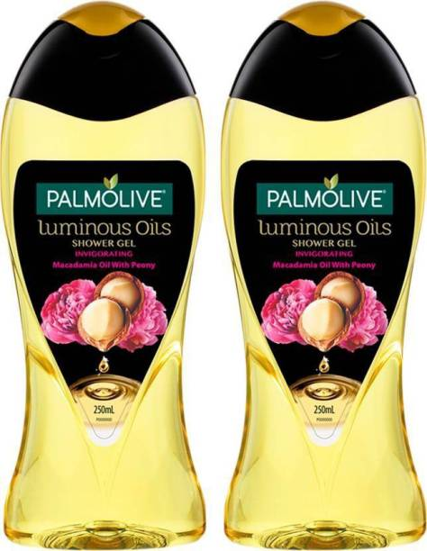 PALMOLIVE Luminous Oil Invigorating Body Wash, Gel Based Shower Gel 100% Natural Macadamia Oil - pH Balanced, No Parabens, No Silicones