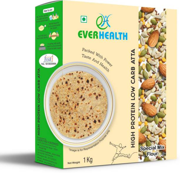 EVERHEALTH High Protein Low Carb Atta - 1Kg