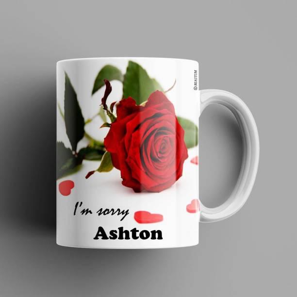 Beautum Ashton I AM SORRY Printed White Model No:BYSIMG002323 Ceramic Coffee Mug