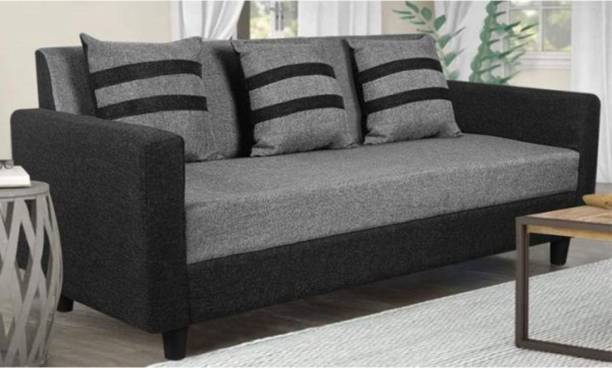 WESTIDO Steel Side Fabric 3 Seater  Sofa