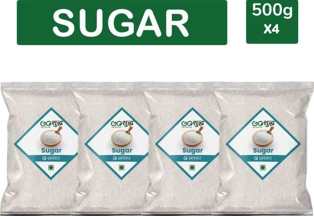 Goshudh Premium Quality White Sugar pack of 4 500g each Sugar