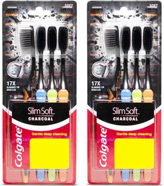 Colgate Slim Soft Charcoal Ultra Soft Toothbrush