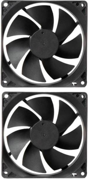 Mexico Pack of 2 Cabinet Fan 3.5-Inch Square 12 V DC CPU Cooling fan 1 Fan Cooling Pad