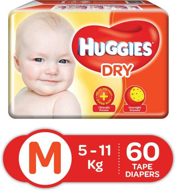 Huggies New Dry Tape diapers - M