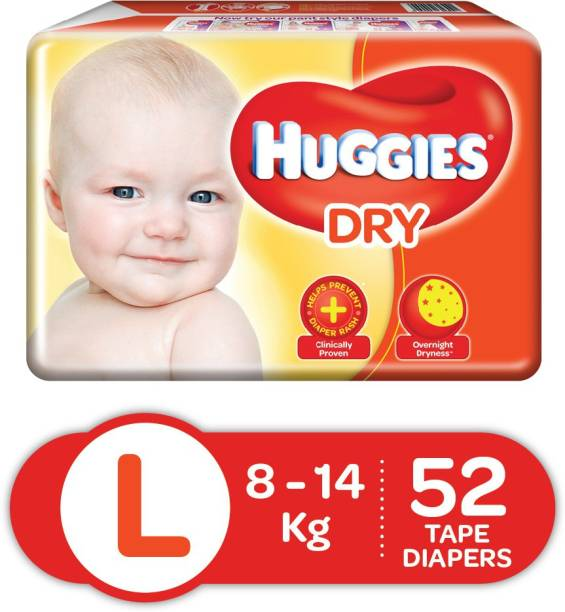 Huggies New Dry Tape diapers - L