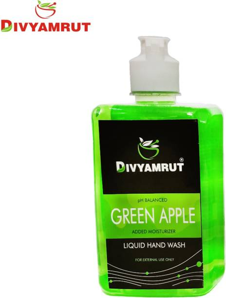 DIVYAMRUT Green Apple Liquid Hand Wash 500 ML ( Pack Of 1) Hand Sanitizer Bottle