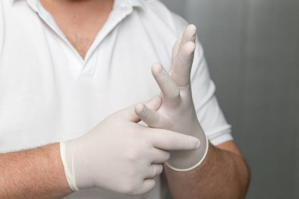 DM SPECIALLY FOR SPECIALIST Latex Hand Gloves, Medical Disposable Gloves Medium size ,White Latex Surgical Gloves