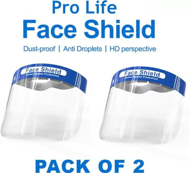 Pro Life ld2 Protective HD Face Shield Reusable Washable Mask Safety Visor