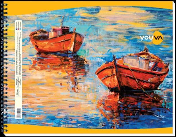NAVNEET Youva Wiro Bound Drawing Book 27.5x35 cm 36 Pages Sketch Pad
