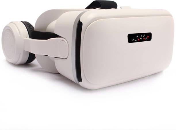 IRUSU Playvr plus vr box headset with headphones and in built controllers for all smart phones