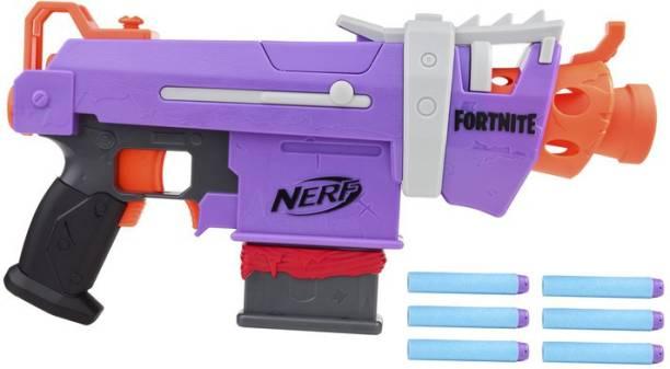 Nerf Fortnite SMG-E Blaster -- Motorized Dart Blasting -- 6-Dart Clip, 6 Official Elite Darts -- For Youth, Teens, Adults Guns & Darts