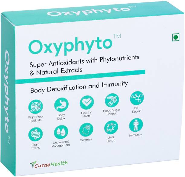 curae health Oxyphyto – Super Antioxidants, Phytonutrients, Natural Extracts. 60 Vegan Tablets