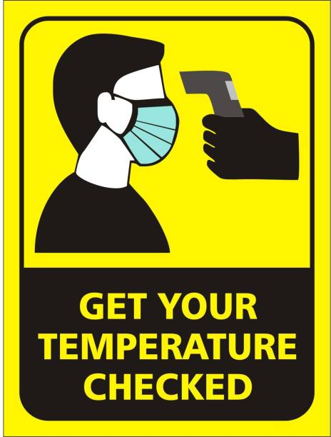 Wallsticks Check Your Body Temperature - Coronavirus Safety Prevention - Covid19 Precautions - Office - School - Industries - Self Adhesive Posters (9x12 Inch) Emergency Sign