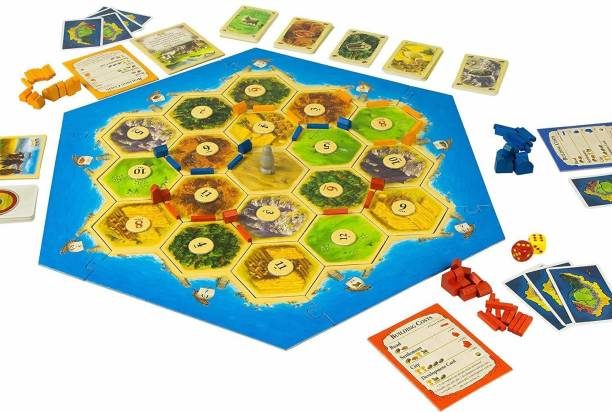 LandVK Katan Board Game   Katan 5th Edition Trade Build Settle Multicolor Strategy & War Games Board Game