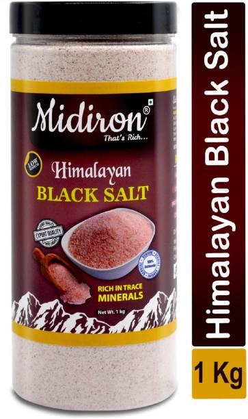 Midiron Himalayan Black Salt (Kala Namak) 1 Kg Black Salt
