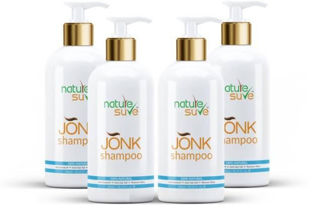 Nature Sure Jonk Shampoo Hair Cleanser for Men & Women – 4 Packs (300ml Each)