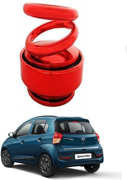 KARDECK Solar Car Fragrance Double Ring Rotating Car Aromatherapy Home Office Air Fresher Decoration Perfume Diffuser For SANTRO-Red Air Purifier
