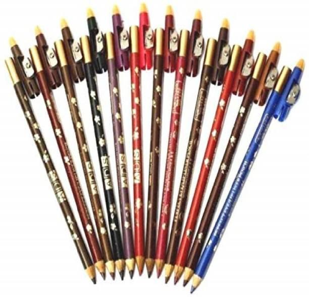 ads Beauty Original Artist Pencil Lip/Eye Liner Dual Use 12 Pcs