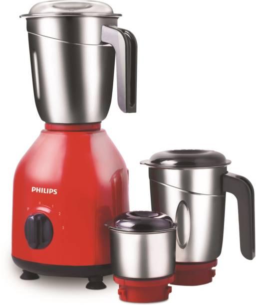 PHILIPS PRO HL7756/02 750 Mixer Grinder (3 Jars, Red)