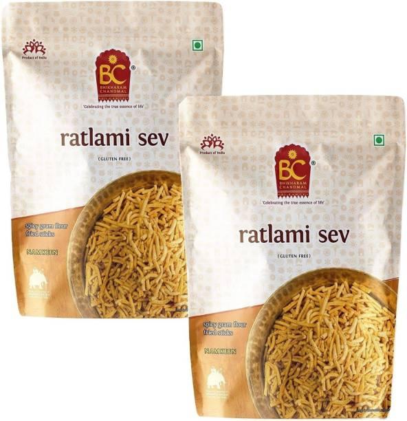 BHIKHARAM CHANDMAL Ratlami Sev 1kg (Pack of 2)