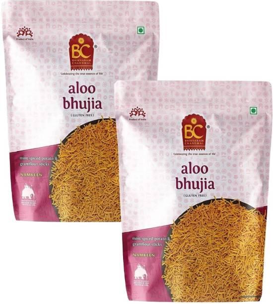 BHIKHARAM CHANDMAL Aloo Bhujia 1kg Pack (Pack of 2)