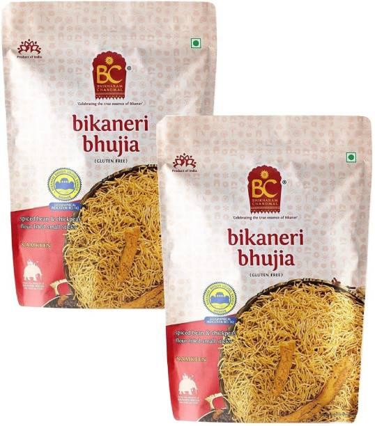BHIKHARAM CHANDMAL Bikaneri Bhujia 1kg (Pack of 2)