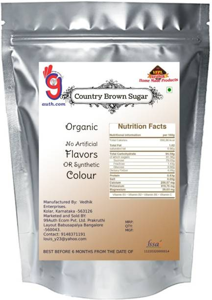 99Auth No Sulphur No Chemical Premium High Quality Brown Sugar 100g Sugar