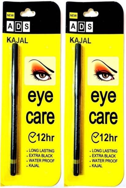Pears ADS Waterproof Jet Black Eye Kajal 12Hr Pack of two