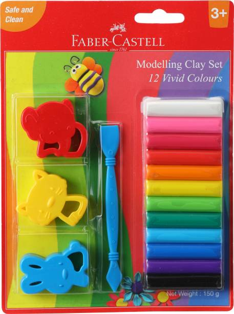 FABER-CASTELL 12 Mod 150 G With Toys Blister Art Clay