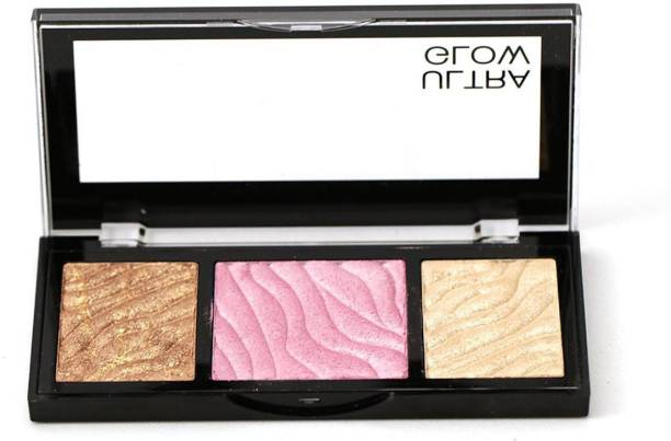 SWISS BEAUTY Ultra Glow Highlight & Bronzer Palette, Face Makeup, Shade-03 ,12 gm
