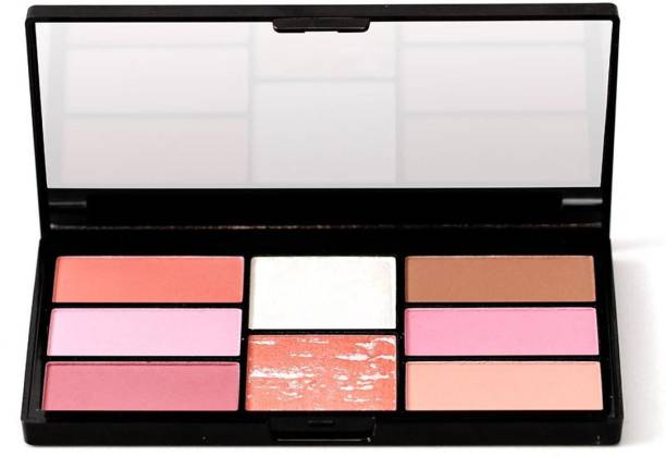 SWISS BEAUTY 8 Blush And Highlight Powder In Palette , Face Makeup, Shade-05 ,15 gm