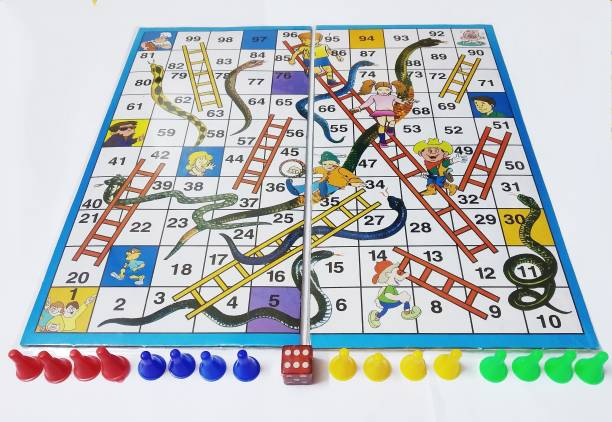 dwij collection ludo snd snske and ladder game ,2 in 1 game Board Game Accessories Board Game
