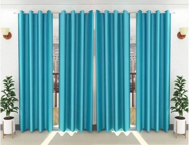 Loof Klapper 274 cm (9 ft) Polyester Long Door Curtain (Pack Of 4)